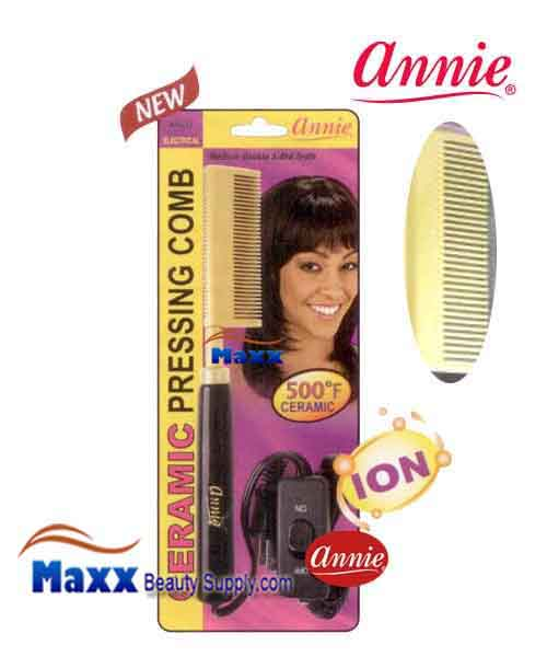 Annie #5537 Electrical Ceramic Pressing Comb - Medium Double Side Teeth